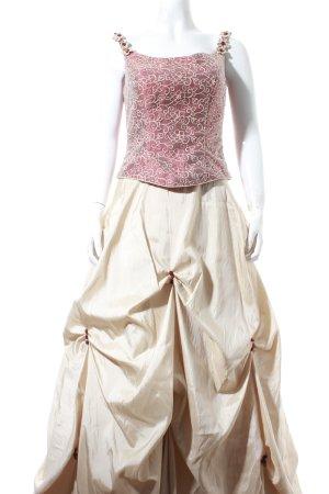 Fest Moden Belle de jour Abendkleid hellbeige-dunkelrot Romantik-Look