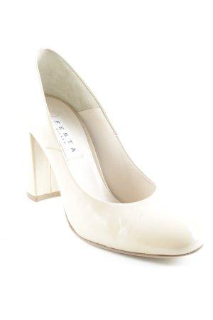Festa High Heels beige Lack-Optik