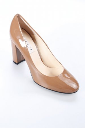 Festa Pumps brown wet-look