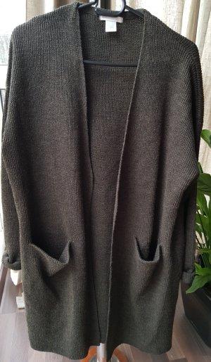 H&M Gebreide cardigan donkergroen