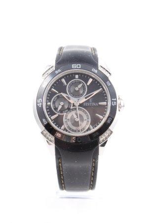 Festina Reloj analógico azul oscuro-color plata elegante