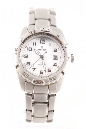 Festina Analog Watch light grey-silver-colored classic style