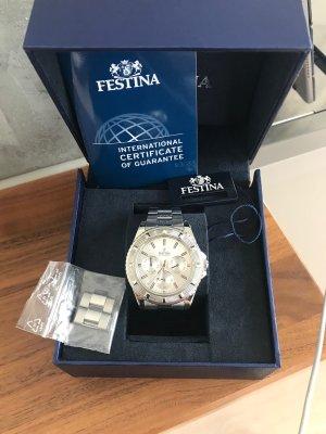 Festina Horloge met metalen riempje zilver