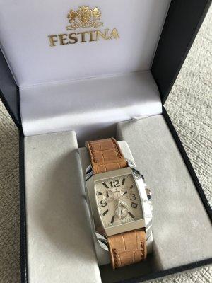 Festina Cronograph mit Lederarmband