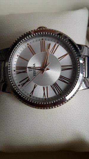 Festina Reloj con pulsera metálica color plata