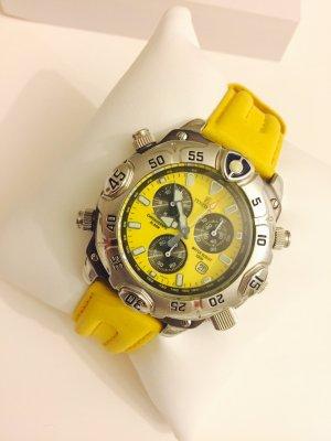 Festina Uhr gelb Chronograph wie neu wasserdicht