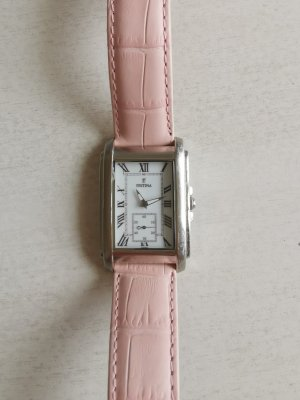 Festina Watch With Leather Strap silver-colored stainless steel