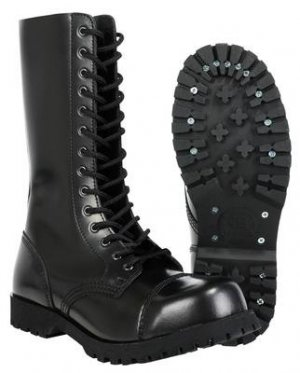 Combat Boots black leather
