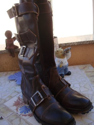 Ghost Western Boots multicolored leather