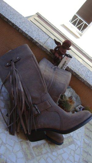 Botas estilo vaquero multicolor Cuero