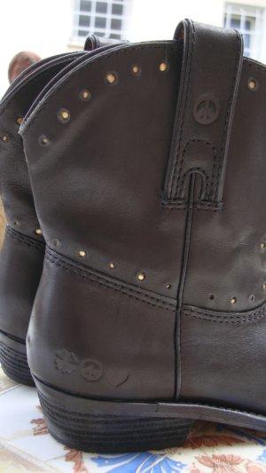 Lucky Brand Botines estilo vaquero negro Cuero