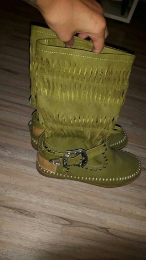 Festival Hippie Ethno Bohemian Indian Boho Cowgirl Pan Boots Size: 37
