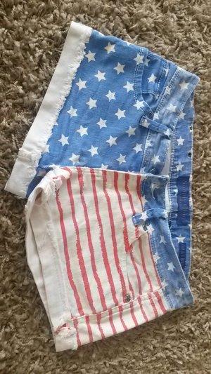 Festival Jeans Shorts in Amerikaflagge Coachella