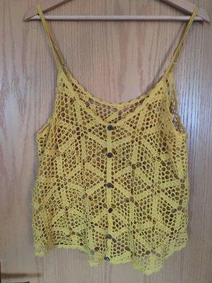 Crochet Top sand brown