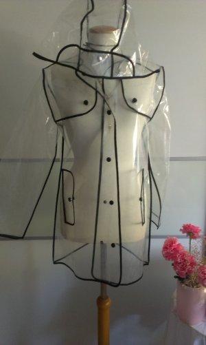 Raincoat white-black