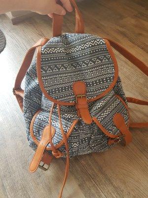 Backpack beige-blue