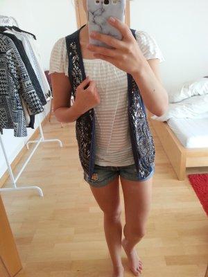Festival!! Schöne Bluse H&M transparent gestreift weiß XS! Coachella