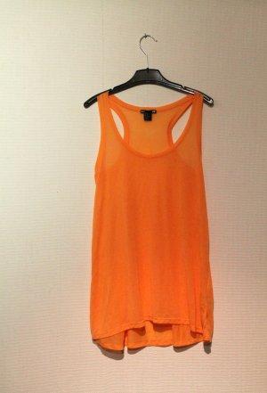Festival / Sommer - orangenes, durchsichtiges H&M oversize Top / Tanktop