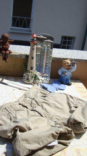 FESTIVAL-STYLE CARGO-SHORTS BERMUDAS AUS PAMUK/BAUMWOLL-MATERIAL!!! BOHO BOHEME HIPPIE BOYFRIEND-STYLE ORIGINAL VINTAGE-STYLE ANTIK-STYLE BÜRO OFFICE MEETING OUTDOOR RADELN TREKKING WANDERN... SIZE 30 (S/M/L 34/36/38) WIE ONE SIZE EINHEITSGRÖSSE NUDE