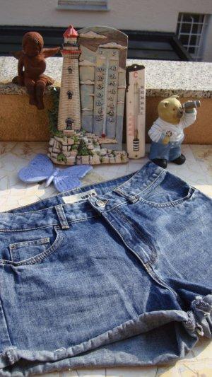Topshop Pantalon taille haute multicolore coton