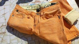 FESTIVAL-STYLE ONE GREEN EKEPHANT Damen SKINNY-Jeans 26/32 Grösse 36 S Stretchjeans orange/gelb used-Style Batik-Style Neupreis 139 € Boho Boheme, Hippie... Neu Gerne Preisvorschläge!!!