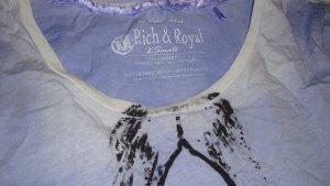 FESTIVAL-STYLE!!! RICH & ROYAL Shirt T-Shirt Batik-Style Boho, Bohème, Hippie... neu XS/S 34/36 Oversize-Style Glitzer-Print hellblau jeansblau Batik-blue neu Neupreis  59,95 € Gerne Preisvorschläge!!!