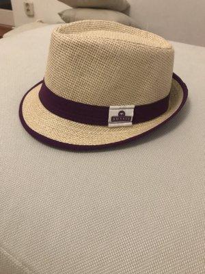 Chapeau beige clair-brun pourpre