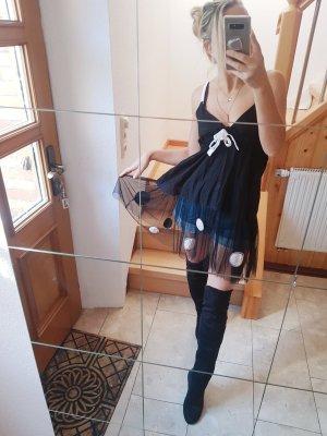 100% Fashion Mini-jurk zwart