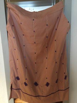DAY Silk Skirt rose-gold-coloured-dark violet