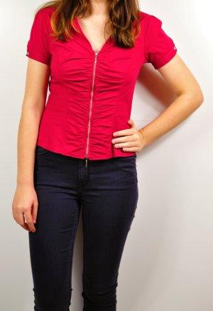 Festliche Bluse in Rot mit Reißverschluss