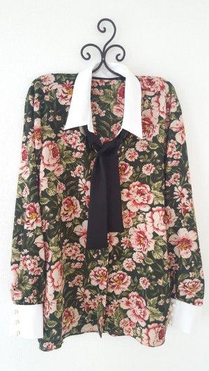 Festliche Bluse m. Blumenmuster Gr. XXL