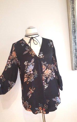 Festliche Bluse mit Blumenmuster Gr. XL