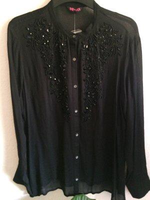 Festliche Bluse mit steinchen in schwarz