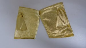 Evening Gloves gold-colored nylon