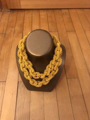 H&M Necklace ocher-yellow