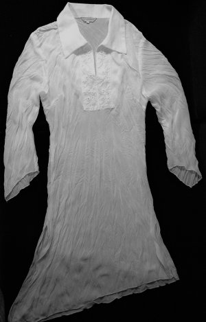 Crash Blouse white mixture fibre