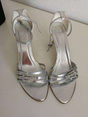 Sandales à lanière argenté