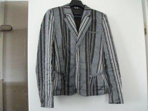 festlicher Kurz Blazer von Blacky Dress, Gr. 36, grau-silber