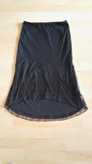 H&M Falda midi negro