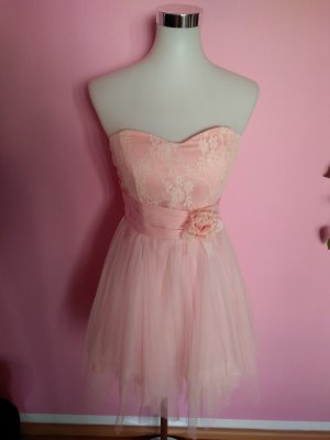 Robe bandeau rose-rose clair