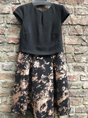 Festliches Esprit-Kleid mit Glanz-Print