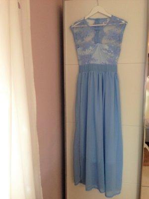 Vestido de encaje azul aciano Poliéster