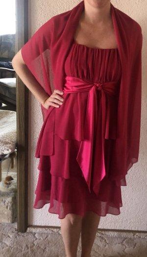 Camomilla Volante jurk magenta