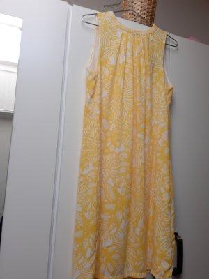 H&M Off the shoulder jurk wit-geel
