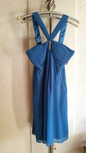 Festliches Kleid - Hochzeit - Abschlussball - Montego Größe S - 34/36 petrol