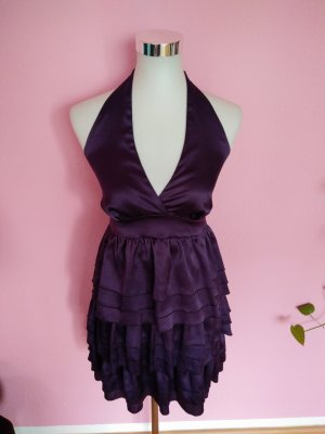 Festliches Kleid in dunklem violett (K2)