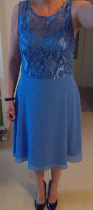 C&A Evening Dress steel blue mixture fibre