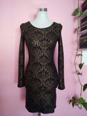Festliches Kleid in schwarz/gold (K1)