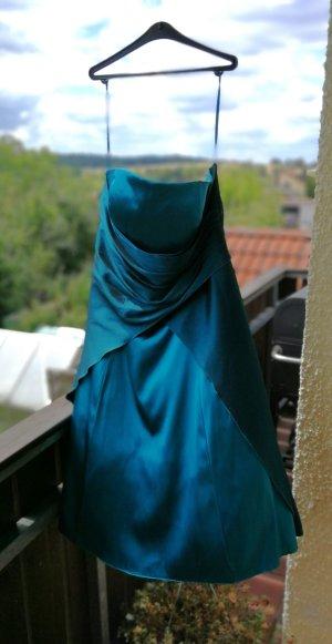 festliches Kleid petrolfarben