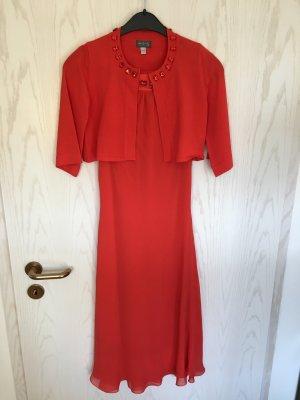 festliches Kleid, rot/orange, Gr. 34/36